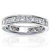 14K White Gold 2.00 CTW Princess Cut Channel Set Eternity Wedding Band