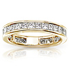 14KY Gold 2.00 CTW Princess Cut Channel Set Eternity Wedding Band