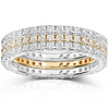 14KWY Gold 1.50 CTW Round Diamond 3 Piece Eternity Ring Set