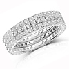 Sterling Silver 3-Piece Cubic Zirconia CZ Eternity Ring Set