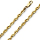 4mm 14K Yellow Gold Men's Diamond-Cut Rope Chain Necklace 20-26in thumb 0