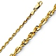 3mm 14K Yellow Gold Diamond-Cut Rope Chain Necklace 16-24in thumb 0