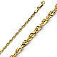 2.5mm 14K Yellow Gold Diamond-Cut Rope Chain Necklace 16-24in thumb 0