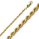 2mm 14K Yellow Gold Diamond-Cut Rope Chain Necklace 16-24in thumb 0