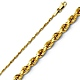 1.5mm 14K Yellow Diamond-Cut Gold Rope Chain Necklace 16-24in thumb 0