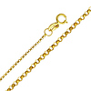 1.2mm 14K Yellow Gold Rolo Cable Chain Necklace