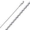 1.6mm 14K White Gold Diamond-Cut Beveled Cable Chain Necklace 16-22in