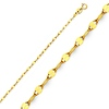 2mm 14K Yellow Gold Flat Mirror Link Chain Necklace 16-20in