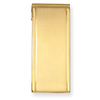 Stainless Steel Brushed & Polished Gold Plated Money Clip