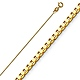 0.5mm 14K Yellow Gold Box Link Chain Necklace 16-22in thumb 0