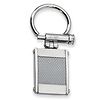 Stainless Steel Grey Carbon Fiber Key Ring