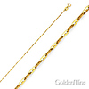 1.1mm 14K Yellow Gold Anchor Link Mariner Chain Necklace 16-22in
