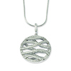 Elliot Skye Cubic Zirconia Round Wave Design Sterling Silver Pendant Necklace
