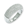 Elliot Skye Sterling Silver Micro Pave Cubic Zirconia Band