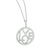 Elliot Skye Sterling Silver 'LOVE' Cubic Zirconia Round Charm Necklace