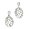 Elliot Skye Sterling Silver Oval Wave CZ Drop Earrings