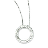 Elliot Skye Sterling Silver Micro Pave CZ Circle Floating Necklace