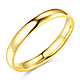 3mm Classic Light Comfort-Fit Dome Wedding Band - 10K, 14K, 18K Yellow Gold thumb 0