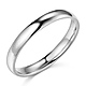 3mm Classic Light Comfort-Fit Dome Wedding Band - 10K, 14K, 18K White Gold thumb 0