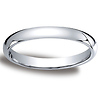 3mm Classic Light Comfort-Fit Dome Wedding Band - Platinum