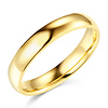 4mm Classic Light Comfort-Fit Dome Wedding Band - 10K, 14K, 18K Yellow Gold