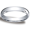 4mm Classic Light Comfort-Fit Dome Wedding Band - Platinum