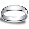 5mm Classic Light Comfort-Fit Dome Wedding Band - Platinum