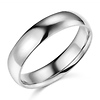 5mm Classic Light Comfort-Fit Dome Wedding Band - 10K, 14K, 18K White Gold