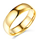 6mm Classic Light Comfort-Fit Dome Wedding Band - 10K, 14K, 18K Yellow Gold thumb 0