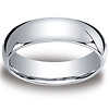6mm Classic Light Comfort-Fit Dome Wedding Band - Palladium