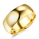 8mm Classic Light Comfort-Fit Dome Men's Wedding Band - 10K, 14K, 18K Yellow Gold thumb 0