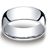 8mm Classic Light Comfort-Fit Dome Men's Wedding Band - Palladium