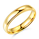 4mm Classic Light Comfort-Fit Dome Milgrain Wedding Band - 10K, 14K, 18K Yellow Gold thumb 0