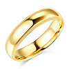 5mm Classic Light Comfort-Fit Dome Milgrain Wedding Band - 10K, 14K, 18K Yellow Gold