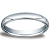 3mm Classic Light Comfort-Fit Dome Milgrain Wedding Band - Palladium