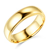 6mm Classic Light Comfort-Fit Dome Milgrain Wedding Band - 10K, 14K, 18K Yellow Gold