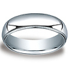 6mm Classic Light Comfort-Fit Dome Milgrain Wedding Band - Platinum