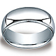 8mm Classic Light Comfort-Fit Dome Milgrain Men's Wedding Band - Palladium thumb 0
