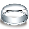 8mm Classic Light Comfort-Fit Dome Milgrain Men's Wedding Band - Palladium