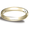 3.5mm Euro Comfort-Fit Flat Classic Wedding Band - 10K, 14K, 18K Yellow Gold