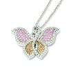 Elliot Skye Sterling Silver Micro Pave CZ Butterfly Charm Necklace