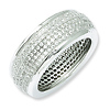 Elliot Skye Sterling Silver 5-Row Micro Pave CZ Eternity Ring