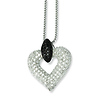 Elliot Skye Black & White CZ Open Heart Necklace