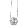 Elliot Skye Sterling Silver Micro Pave CZ Round Ball Charm Necklace