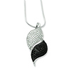 Elliot Skye Silver Embers Black & White Micro Pave CZ Charm Necklace