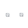 6mm 14K White Gold Round CZ Stud Earrings