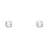 6mm 14K Yellow Gold Round Cut Cubic Zirconia Stud Earrings