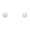 6mm 14K White Gold Round CZ Solitaire Stud Earrings