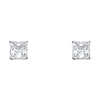 7mm 14K White Gold Princess Solitaire CZ Stud Earrings