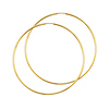 Polished Endless Extra Large Hoop Earrings - 14K Yellow Gold 1.5mm x 2.25 inch